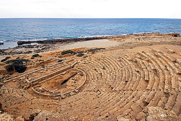Theatre, Roman site of Apollonia, Libya, North Africa, Africa