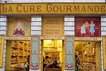 La Cure Gourmand sweet, biscuit and chocolate shop, Brussels, Belgium, Europe