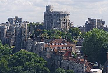 Aerial view, Windsor Castle, Windsor, Berkshire, England, United Kingdom, Europe