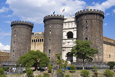 Largo Castello at the Piazza Municipio, Naples, Campania, Italy, Europe