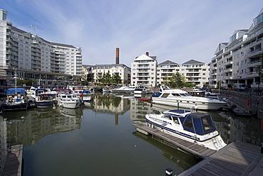 The marina at Chelsea Harbour, London SW10, England, United Kingdom, Europe