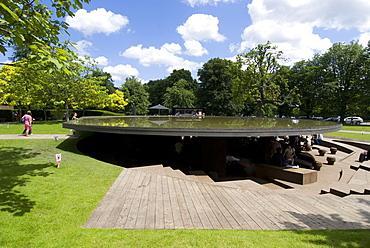 The 2012 Serpentine Gallery pavilion by Herzog, de Meuron and Ai Weiwei, Serpentine Gallery, Kensington Gardens, London, England, United Kingdom, Europe