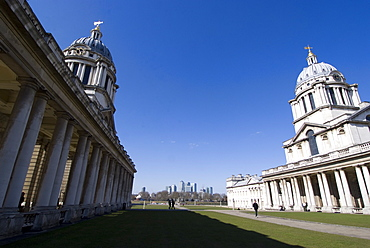 View of the Royal Naval College, UNESCO World Heritage Site, Greenwich, London, SE10, England, United Kingdom, Europe