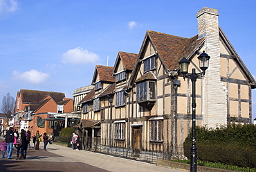 House on Henley Street where William Shakespeare was born, Stratford upon Avon, Warwickshire, England, United Kingdom, Europe