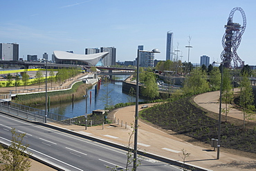 View of the Queen Elizabeth Olympic Park, Stratford, London, E20, England, United Kingdom, Europe
