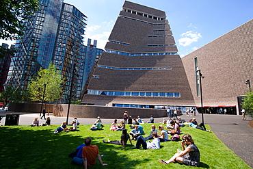 The new Tate Modern Annex, designed by Herzog and de Meuron, Southwark, London, SE1, England, United Kingdom, Europe