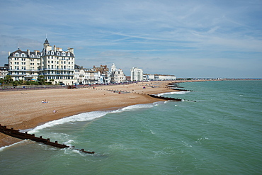 Eastbourne from the pier, East Sussex, England, United Kingdom, Europe