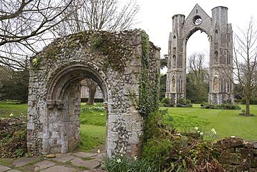 Ruins of Walsingham Abbey, Walsingham, North Norfolk, England, United Kingdom, Europe