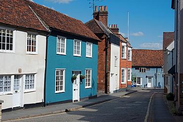 A residential street in Saffron Walden, Essex, England, United Kingdom, Europe
