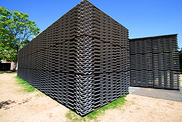 The 2018 Pavilion at the Serpentine Gallery, designed by Frida Escobedo, London, W2, England, United Kingdom, Europe