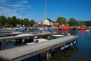 Harbour of the island of Sandhamn, the Stockholm Archipelago, Sweden, Scandinavia, Europe
