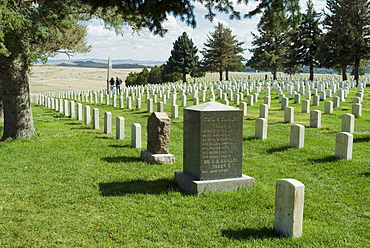 Battlefield and graveyard, Little Big Horn, Montana, United States of America, North America