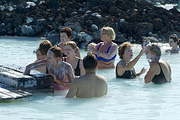 Blue Lagoon (mineral baths), near Keflavik, Iceland, Polar Regions