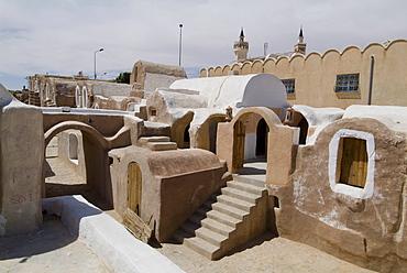 Old Berber grain storage units, site of Star Wars film, now a hotel, Ksar Hedada, Tunisia, North Africa, Africa