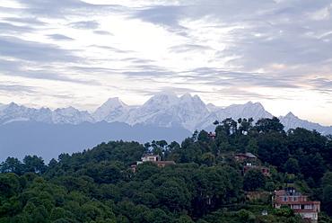 Himalaya view, Nagarkot, Nepal, Asia