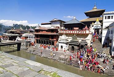 Hindu festival, Pashupatinath Temple, Kathmandu, Nepal, Asia