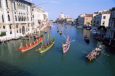 Regatta Storica, Grand Canal, Venice, UNESCO World Heritage Site, Veneto, Italy, Europe