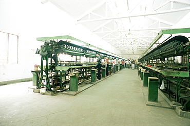 Interior of a factory producing silk, Suzhou, China, Asia