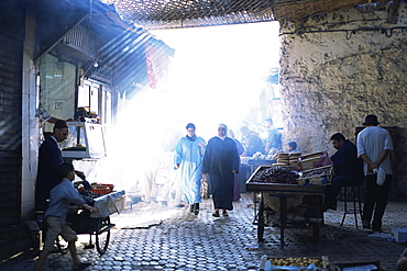 Street scene in the Medina, Fez, Morocco, North Africa, Africa