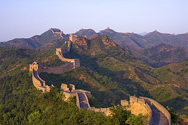 The Great Wall, near Jing Hang Ling, UNESCO World Heritage Site, Beijing, China, Asia
