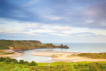 Three Cliffs Bay, Gower, South Wales, Wales, United Kingdom, Europe