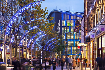 Cardiff Shopping Centre at Christmas, Wales, United Kingdom, Europe