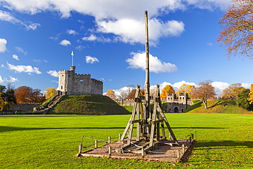 Norman Keep, Cardiff Castle, Cardiff, Wales, United Kingdom, Europe