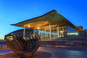 Welsh Assembly (Senedd), Cardiff Bay, Wales, United Kingdom, Europe