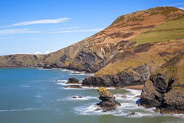 Llangrannog Beach, Ceridigion (Cardigan), West Wales, Wales, United Kingdom, Europe