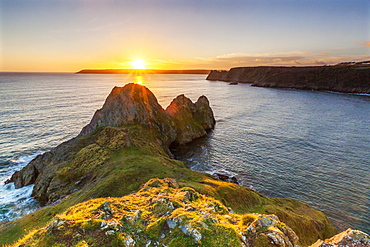 Three Cliffs Bay, Gower Peninsula, Swansea, Wales, United Kingdom, Europe