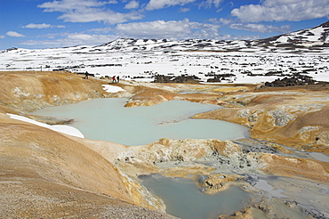 Leirhnjukur thermal area and eruption site, near Krafla geothermal power station, Lake Myvatn, North area, Iceland, Polar Regions