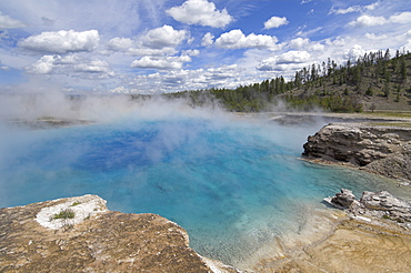 Excelsior Pool, Midway Geyser Basin, Yellowstone National Park, UNESCO World Heritage Site, Wyoming, United States of America, North America