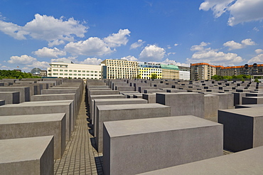 Memorial to the murdered Jews of Europe, or the Holocaust memorial, designed by Peter Eisenman, Ebertstrasse, Berlin, Germany, Europe