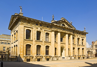 The Clarendon Building built by Nicholas Hawksmoor in 1711, Broad Street, Oxford, Oxfordshire, England, United Kingdom, Europe