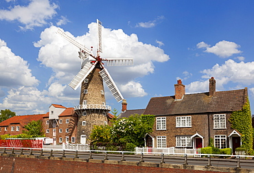The Maud Foster Windmill is a seven storey, five sailed windmill located by the Maud Foster Drain, Skirbeck, Boston, Lincolnshire, England, United Kingdom, Europe