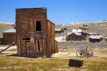The Swazey Hotel was also a clothing store and casino on Main Street, in the California gold mining ghost town of Bodie, Bodie State Historic Park, Bridgeport, California, United States of America, North America