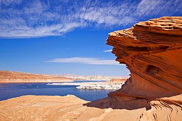 Red Rock formations, Lake Powell, Page, Arizona, United States of America, North America