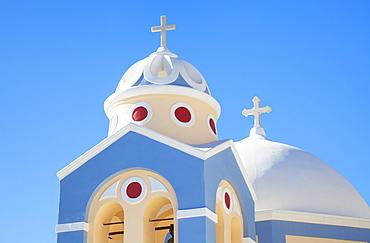 Greek Church of Saint Stylianos, Fira to Firostefani path, Santorini (Thira), Cyclades Islands, Greek Islands, Greece, Europe