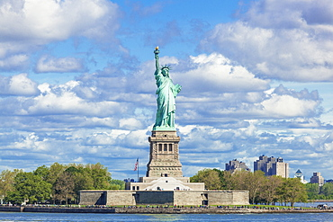 The Statue of Liberty, Liberty Island, built by Gustave Eiffel, New York City, United States of America, North America