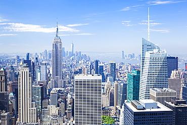 Manhattan skyline, New York skyline, Empire State Building, New York City, United States of America, North America