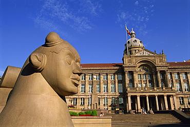Guardian Statue and Council House, Victoria Square, Birmingham, England, United Kingdom, Europe