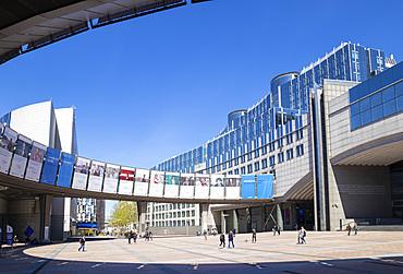 Esplanade Solidarnosc, European Parliament Building, Altiero Spinelli building, Brussels, Belgium, Europe