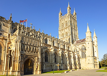 Gloucester Cathedral, city centre, Gloucester, Gloucestershire, England, United Kingdom, Europe
