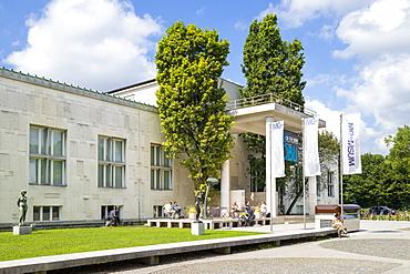 The entrance to the Ljubljana Museum of Modern Art, Cankarjeva Cesta, Ljubljana, Slovenia, Europe