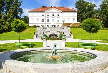 Tivoli Castle, Tivoli Park, Tivoli Mansion, International Centre of Graphic Arts, Ljubljana, Slovenia, Europe