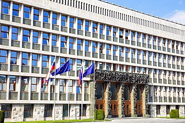 Slovenian Parliament, National Assembly building, Trg Republike (Republic Square), Ljubljana, Slovenia, Europe