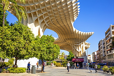 Seville Metropol Parasol (Sevilla Mushrooms) (Las Setas De Sevilla), Plaza de la Encarnacion, Seville, Spain, Andalusia, Spain, Europe