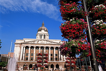 Council House, Market Square, Nottingham, Nottinghamshire, England, United Kingdom, Europe