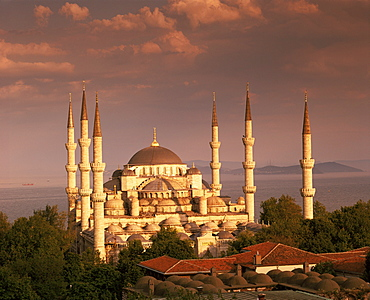 The Blue Mosque, UNESCO World Heritage Site, Istanbul, Turkey, Europe