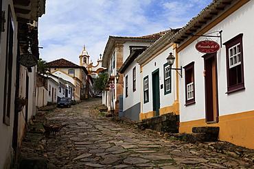 The historic city of Tiradentes, Minas Gerais, Brazil, South America